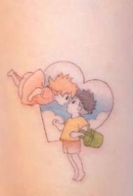 九款超可愛的卡通人物彩色小紋身圖案欣賞