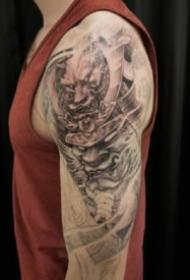 大臂傳統紋身 9款傳統的藝伎般若悟空等傳統紋身圖案