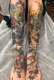 森系女孩的9款植物系列tattoo紋身圖案