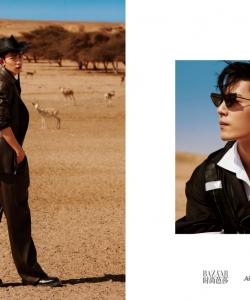 X玖少年團肖戰時尚芭莎帥氣寫真圖片