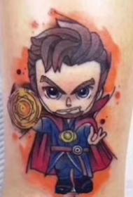 可愛Q版復仇者聯盟漫威英雄紋身圖片