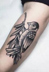 九款黑灰點刺歐美手臂紋身圖案欣賞