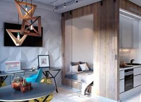 30㎡的單身公寓,設計感與實用性面面俱到