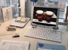 唯美精致文艺书桌设计