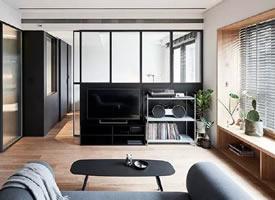 一组45m²简约单身公寓装修效果图