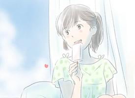 小清新手繪女孩手機壁紙圖片