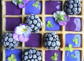 一组可爱的方块水果拼盘图片
