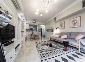 105平簡約北歐風三居室,浪漫的淺灰與粉色