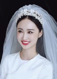 一組輕紗復古感的新娘發型圖片欣賞