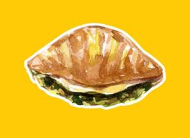美食的誘惑手繪高清手機壁紙