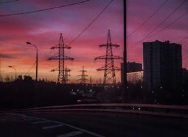 一组美丽的莫斯科黄昏美景图片欣赏