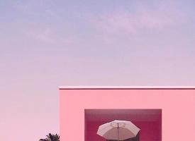 夕阳底下粉色的梦