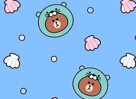 可愛卡通布朗熊手機壁紙圖片