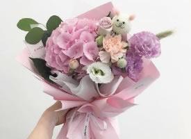 一組繡球花束圖片集錦