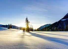 唯美迷人的冬日風景桌面壁紙