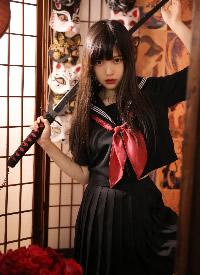 网红美女模特霸气制服写真图片
