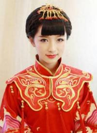 中式婚禮新娘發型,端莊典雅,超級美