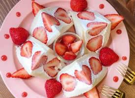 女孩子都喜歡的草莓系甜品圖片