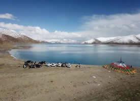 西藏羊卓雍錯原生態美景