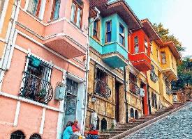 伊斯坦布爾的彩色小鎮