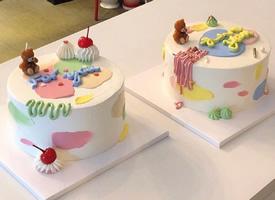 一组可爱卡通的小蛋糕图片欣赏