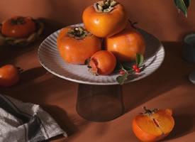 一组秋意感浓浓的柿子图片欣赏