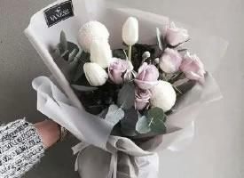 一組嬌艷漂亮的花束圖片