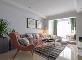 彩色清新北歐簡約風格裝修溫暖的家