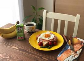 一组精致营养的西式早餐图片欣赏