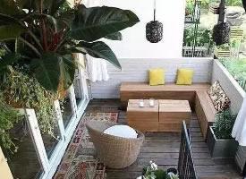休闲时刻,阳台上的浪漫时光