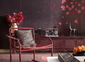 412平新中式,以枫叶红为基调,营造富贵奢雅空间