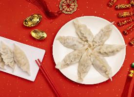 春節傳統美食餃子圖片