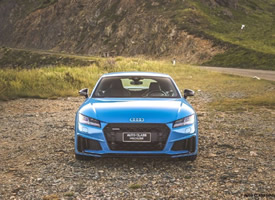 一组帅气的蓝色跑车奥迪图片欣赏