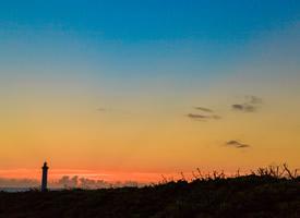 日本沖繩島日落美景桌面壁紙