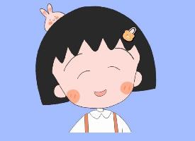 可愛的櫻桃小丸子卡通手機壁紙圖片
