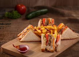 诱人美味的三明治图片