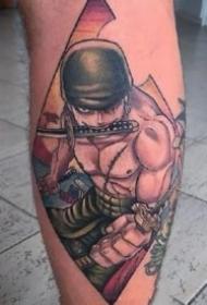 紋身海賊王圖片 9款動漫海賊王的路飛等紋身圖片