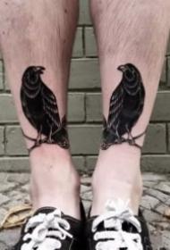 男生脚踝处的9款纹身图案作品