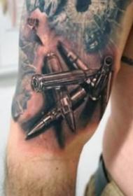 紋身手槍圖 帥氣的9款槍主題紋身圖案