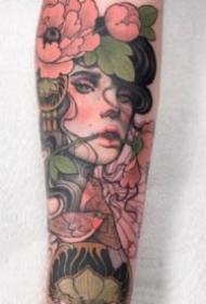 漂亮的15款欧美school女郎纹身作品图