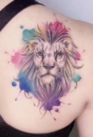 女生的一组漂亮彩色小清新纹身图片