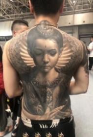 大滿背紋身作品 26款2019廊坊紋身展的大滿背紋身作品賞析