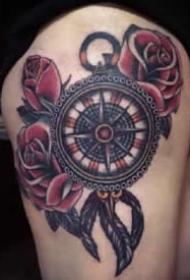 羅盤紋身 9款漂亮精致的羅盤指南針紋身圖案