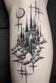 教堂紋身 16款教堂城堡等建筑紋身圖案