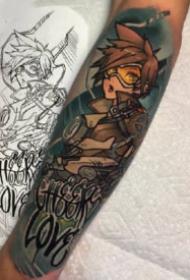 守望先鋒9款英雄紋身--來自ins紋身師mikendazzoart作品