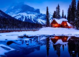 加拿大雪景風光圖片