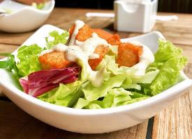 營養美味的蔬菜沙拉圖片