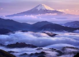 一组富士山壮丽风光图片