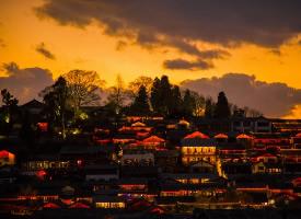 麗江古城的那一抹晚霞最是讓人心動