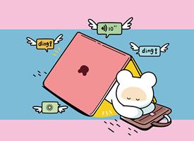 笨笨鼠2020鼠年工作手機壁紙